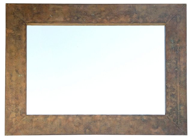 Hammered Copper Mirror