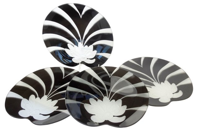 Dorothy   Thorpe Lotus Plates, S/4