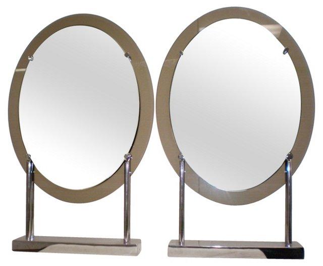 Steve Chase Vanity Mirrors,  Pair