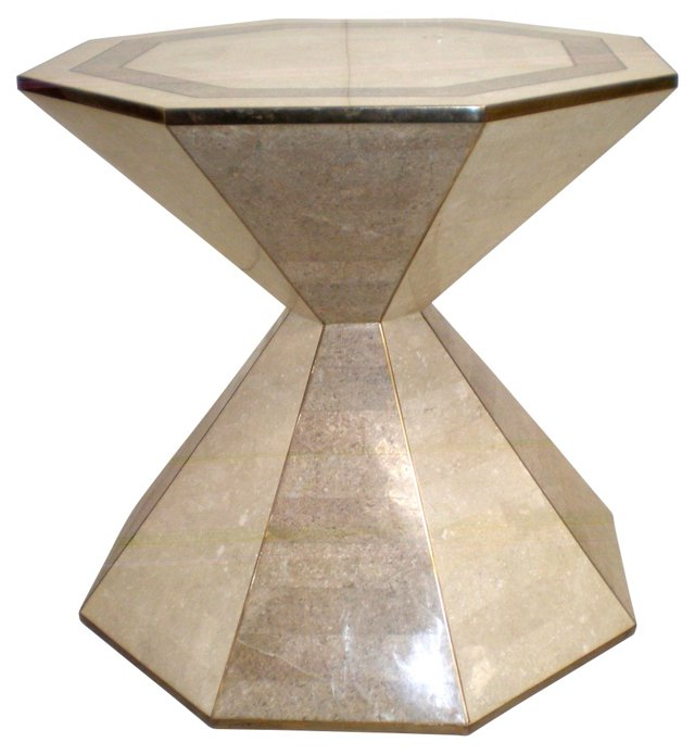 Maitland-Smith Stone Hourglass Table