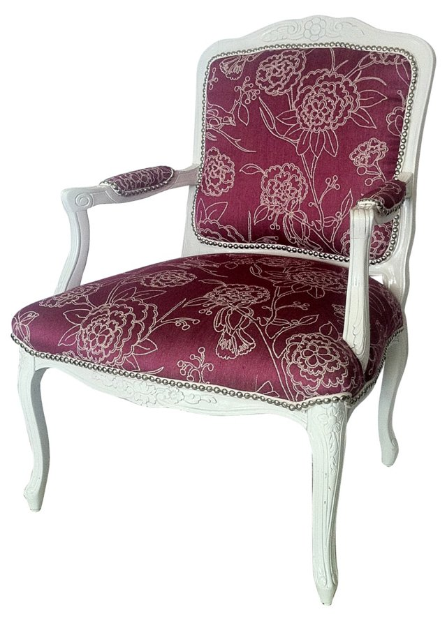 Magenta Floral Fauteuil