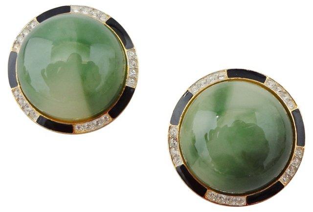 Kenneth Jay Lane Cabochon Earrings