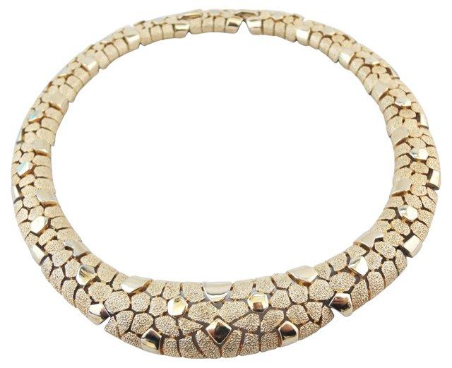 1960s Trifari Textured Collar Necklace
