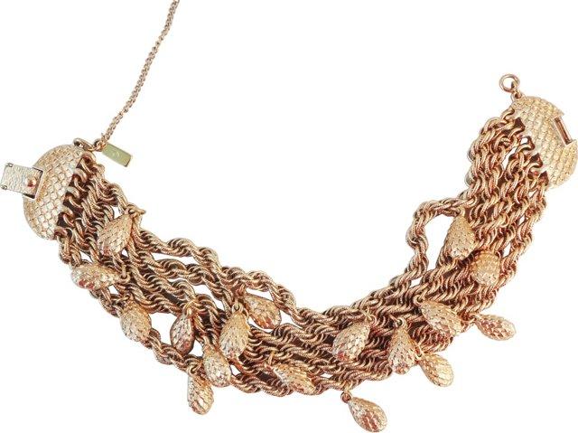 Monet Nugget Charm Bracelet