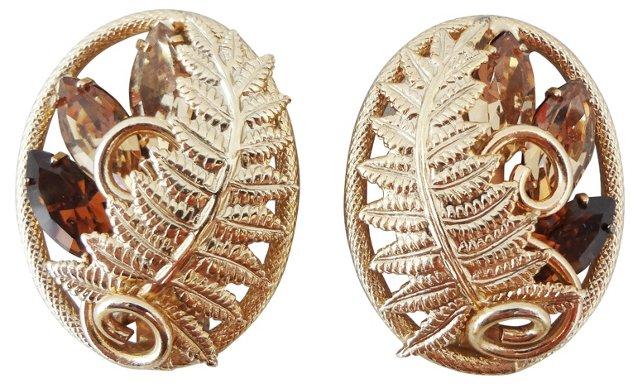 1960s Napier Fern Earrings