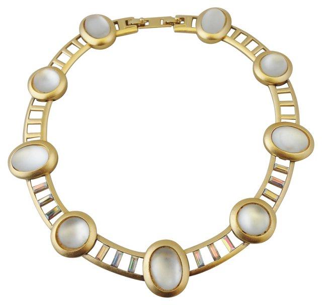 1980s Monet Faux-Moonstone Necklace