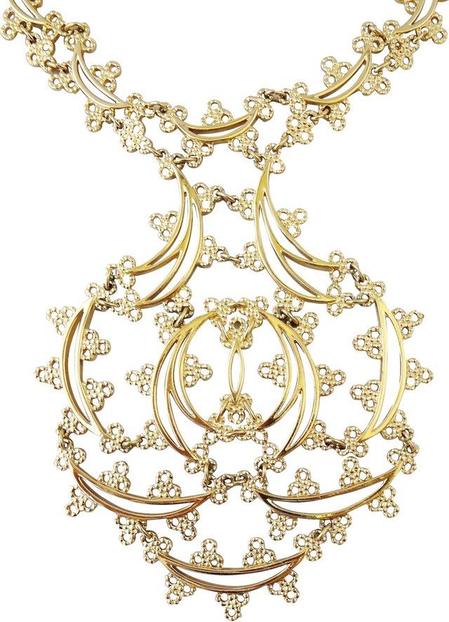 Monet Goldtone Primavera Necklace, 1973