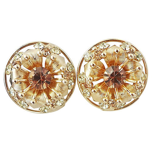 1950s Napier Flower Earrings