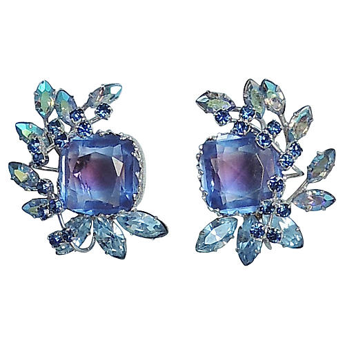 1960s Castlecliff Cuba Stone Earrings