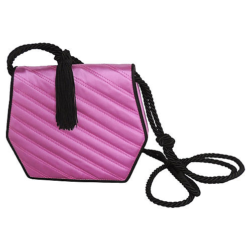 1980s Valentino Purple Tassel Purse