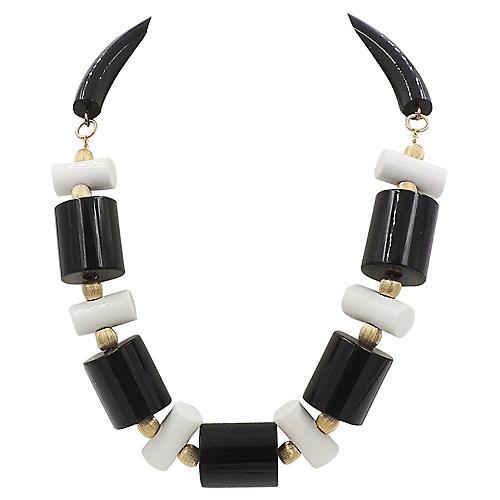 Black & White Collar Necklace