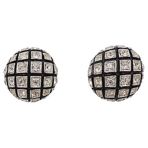 Castlecliff Rhinestone Earrings