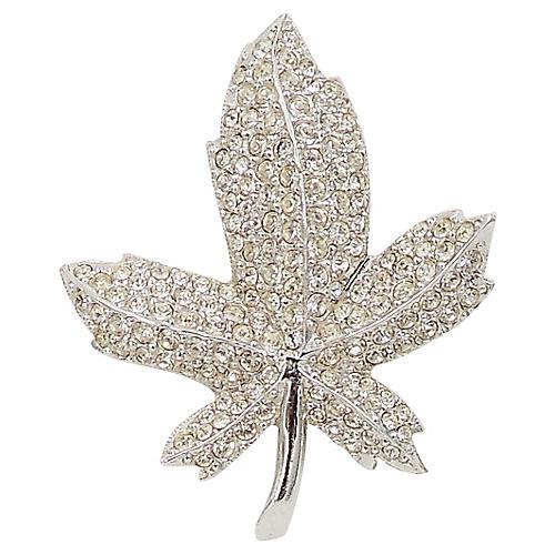 1960s Boucher Pavé Maple Leaf Pin