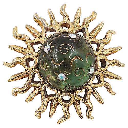 Claire Deve Paris Domed Sunburst Brooch