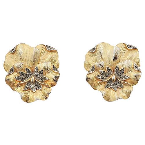 Trifari Pansy Earrings