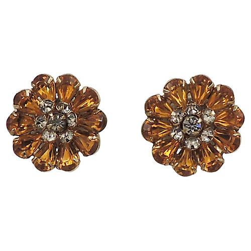 1950s Kramer Faux-Topaz Earrings