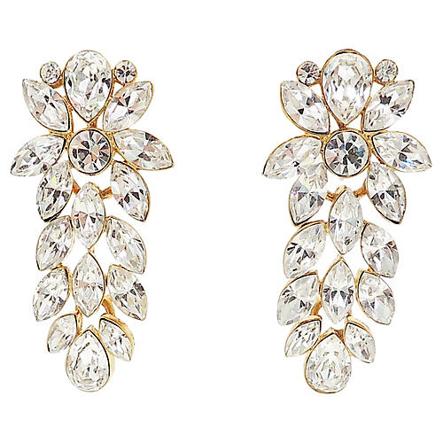 Napier Rhinestone Chandelier Earrings
