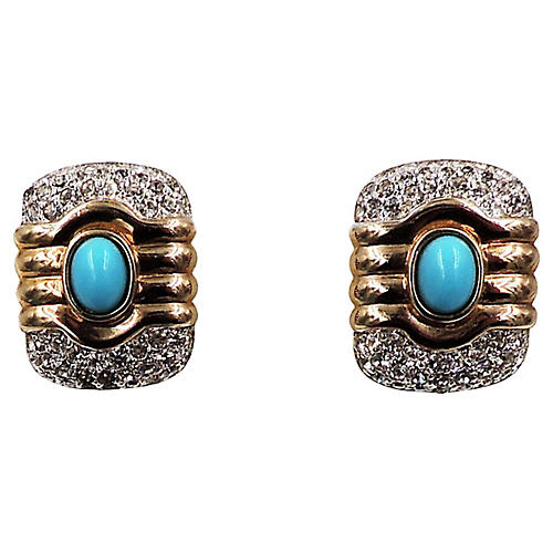 Panetta Faux-Turquoise Earrings