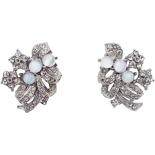 1950s Faux-Moonstone Earrings