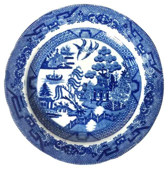 Blue Willow Plate, C. 1780