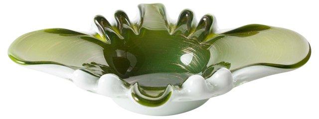 Green Murano Splash Bowl