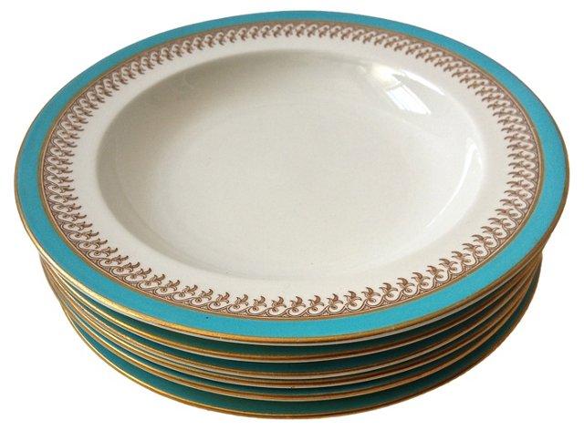 Royal Worcester Soup Plates, S/6