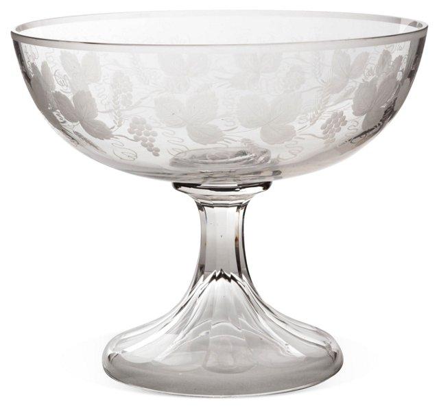 Glass Centerpiece Bowl, C. 1890