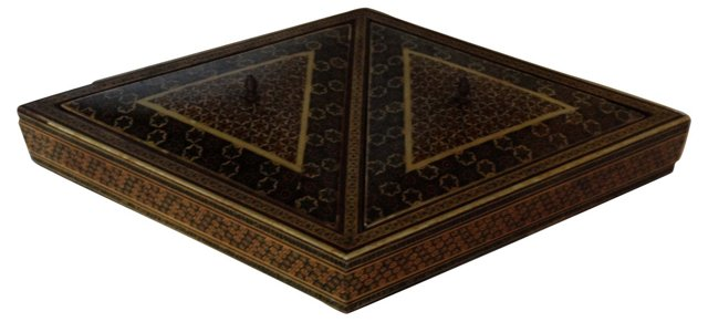 Moroccan Inlaid Wooden Box
