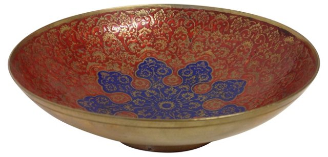 Painted Brass Dish