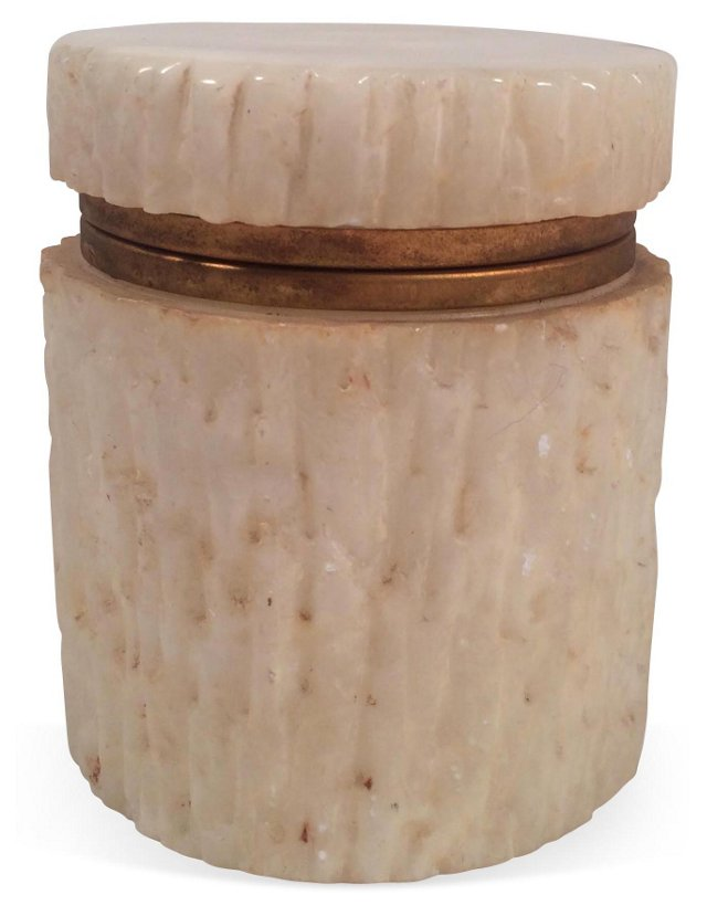 Italian Resin & Brass Jar