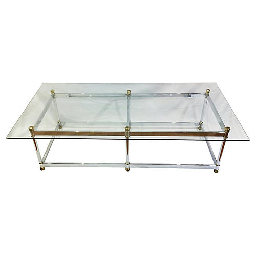 Chrome & Brass Coffee Table