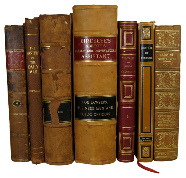 Leather Books, S/7