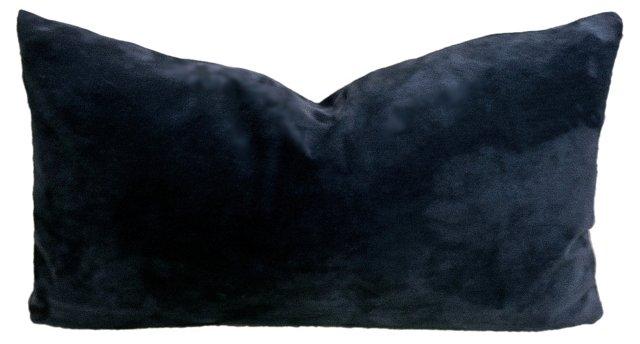 Dark  Blue    Suede  Pillow