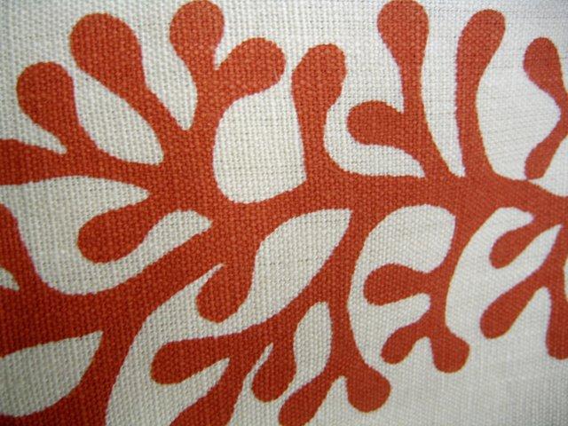 Salmon Orange Linen Pillows, S/3