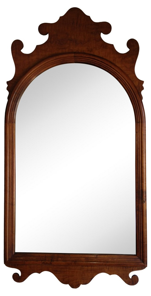 1940s Scrolled Chippendale-Style Mirror