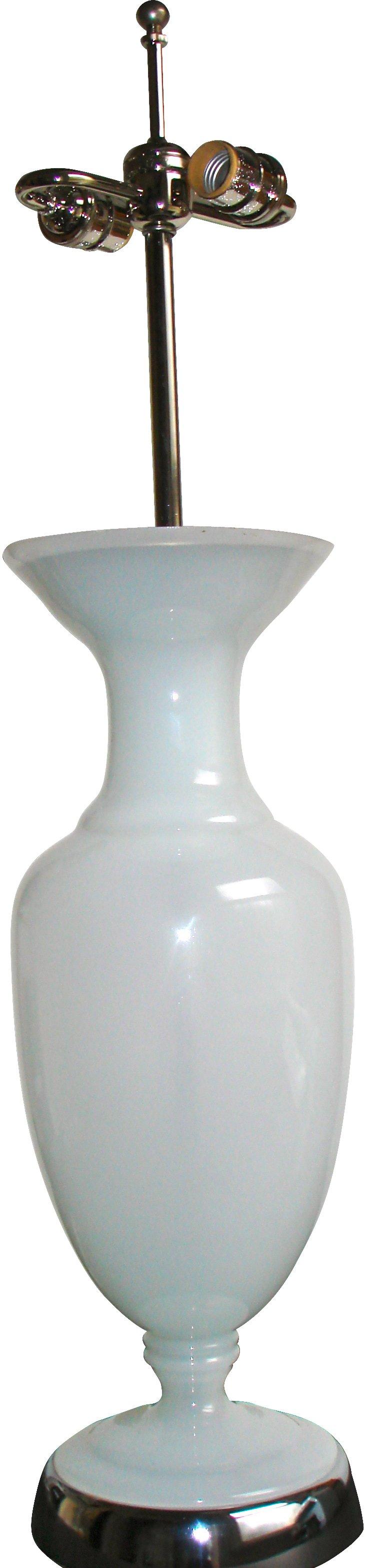 Opaline Glass Urn Table Lamp