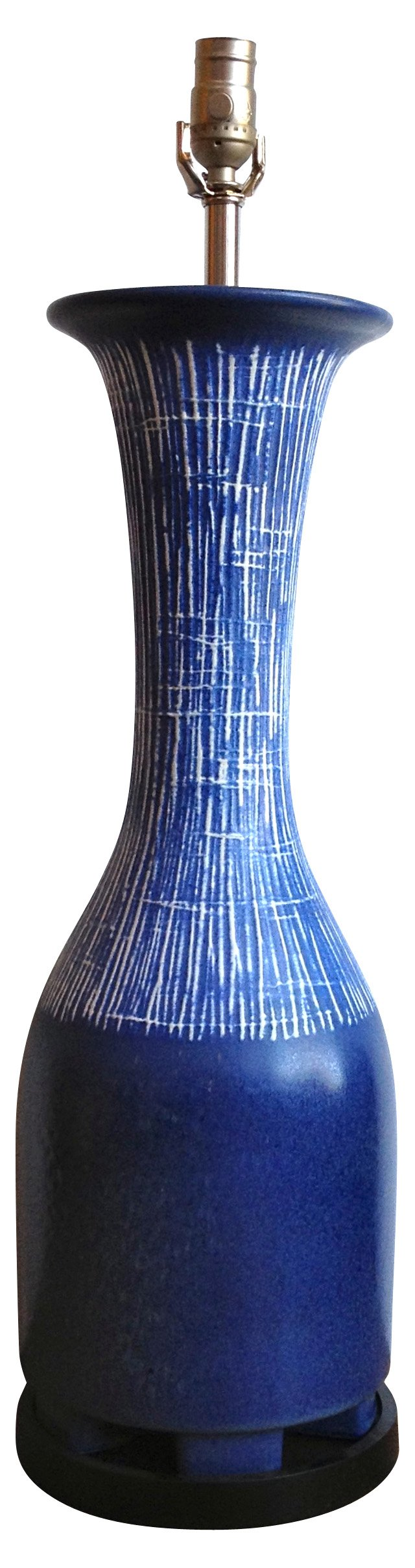Italian Sgraffito Vase Table Lamp