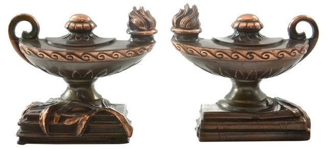 1940s Genie Lamp Bookends
