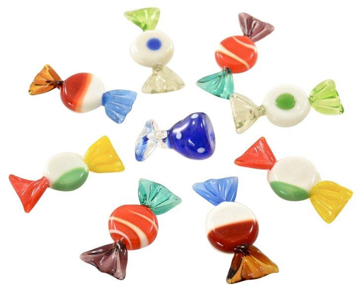 Murano Glass Candies, S/9