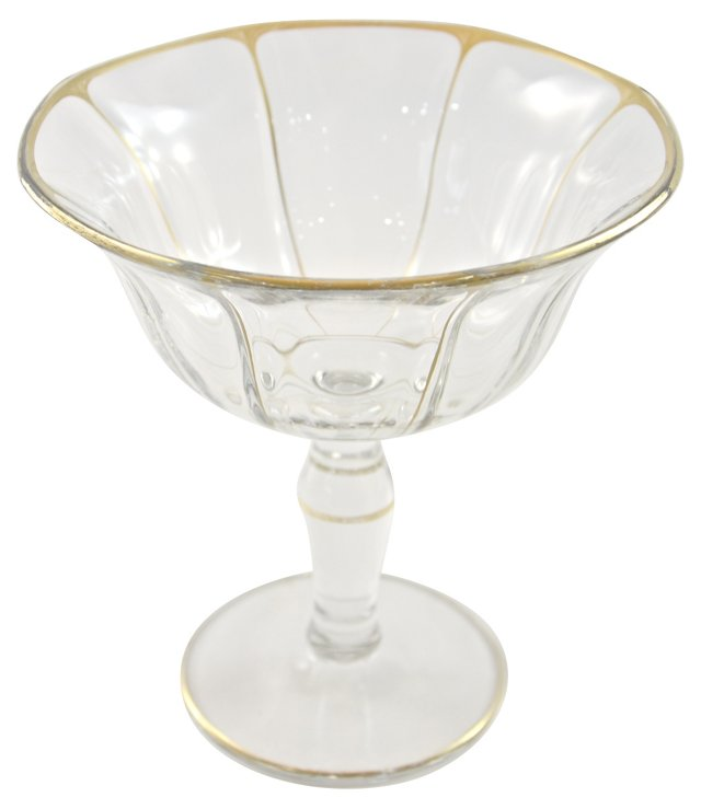 Gold-Trimmed Crystal Compote