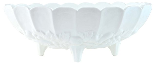 Milk Glass Centerpiece Bowl
