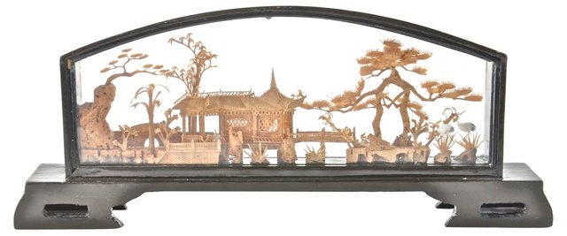 Hand-Carved Chinese Landscape