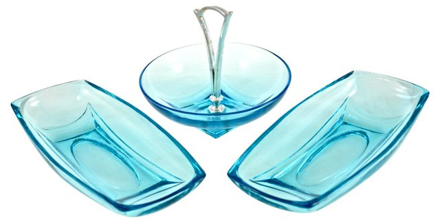 Aqua Appetizer Set, 3 Pcs