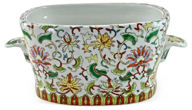 Hand-Painted Chinese Urn