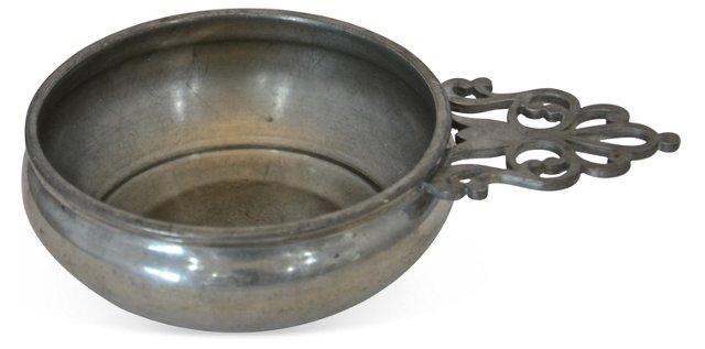 Pewter Porringer Bowl