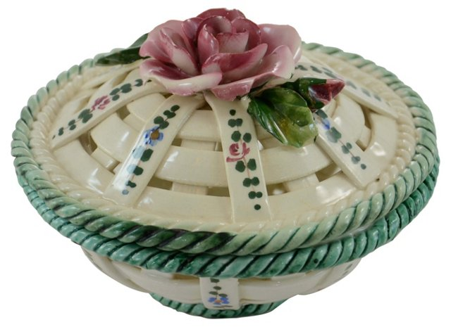Italian Rose Lidded Box
