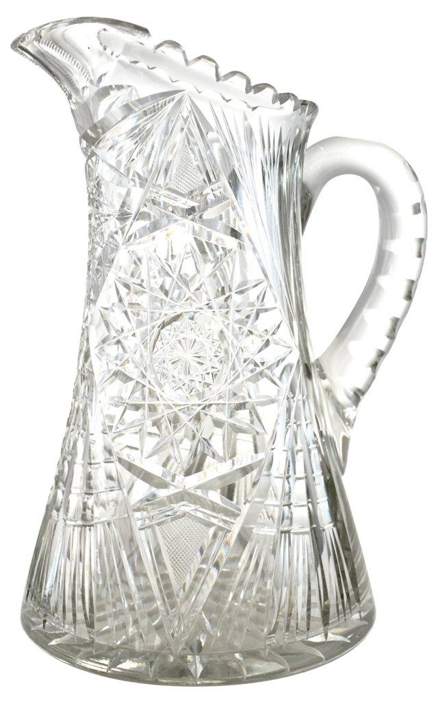Antique Cut-Crystal Vase