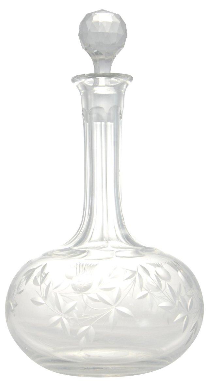 Cut Crystal Lidded Bottle
