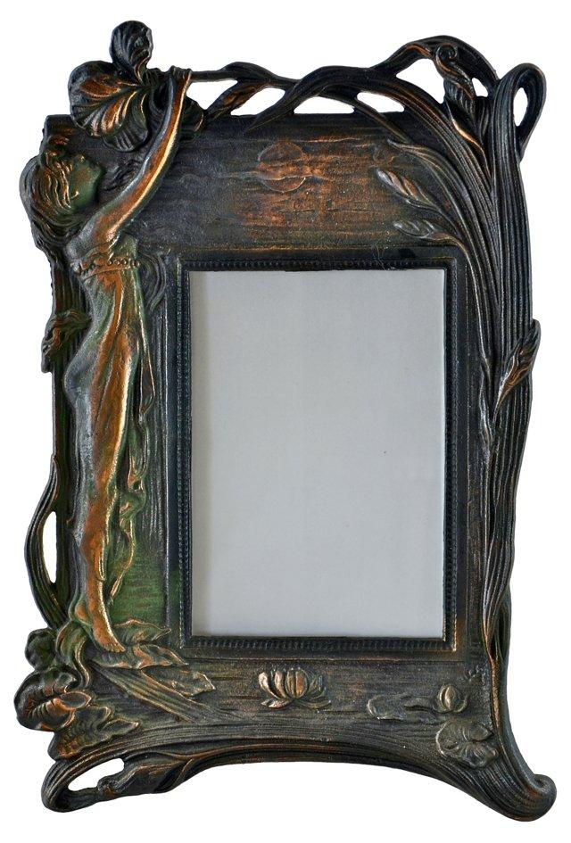 Art Nouveau-Style Iron Frame
