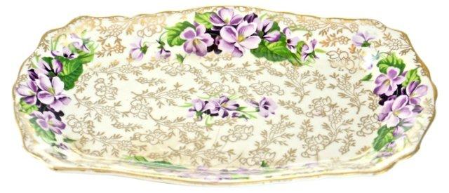 1920s Violets Vanity Dish